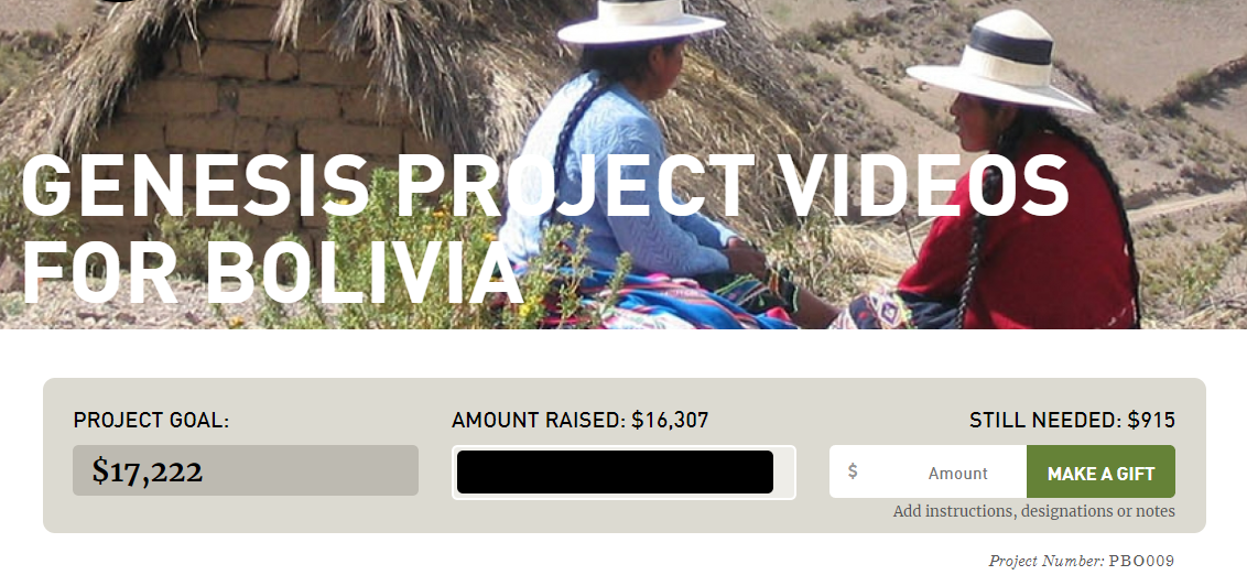 Help us reach our goal with Genesis Project
